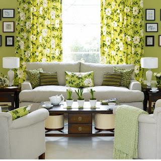 ruang+tamu+warna+hijau+epal Ciptakan Kesan Alami Bersama Ruang Tamu Hijau
