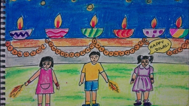 Diwali Pictures For Drawing