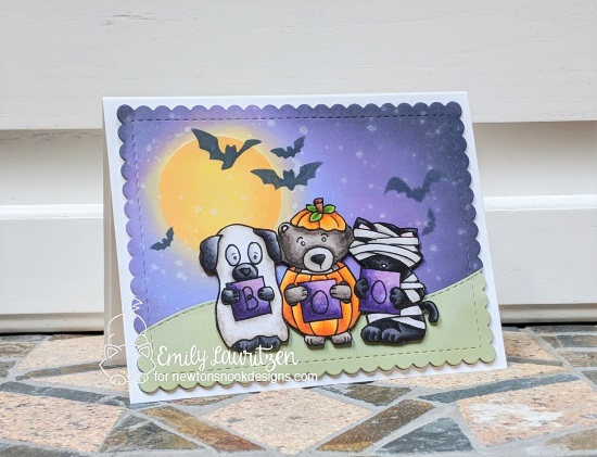 Boo by Emily features Halloween Trio, Land Borders, and Frames & Flags by Newton's Nook Designs; #newtonsnook
