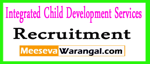 ICDS Chennai Recruitment 2017