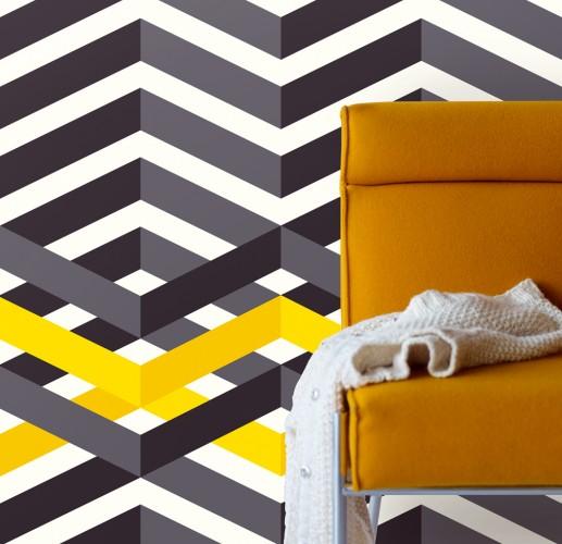 Muchas rayas papel pintado - Papel pintado rayas horizontales ...