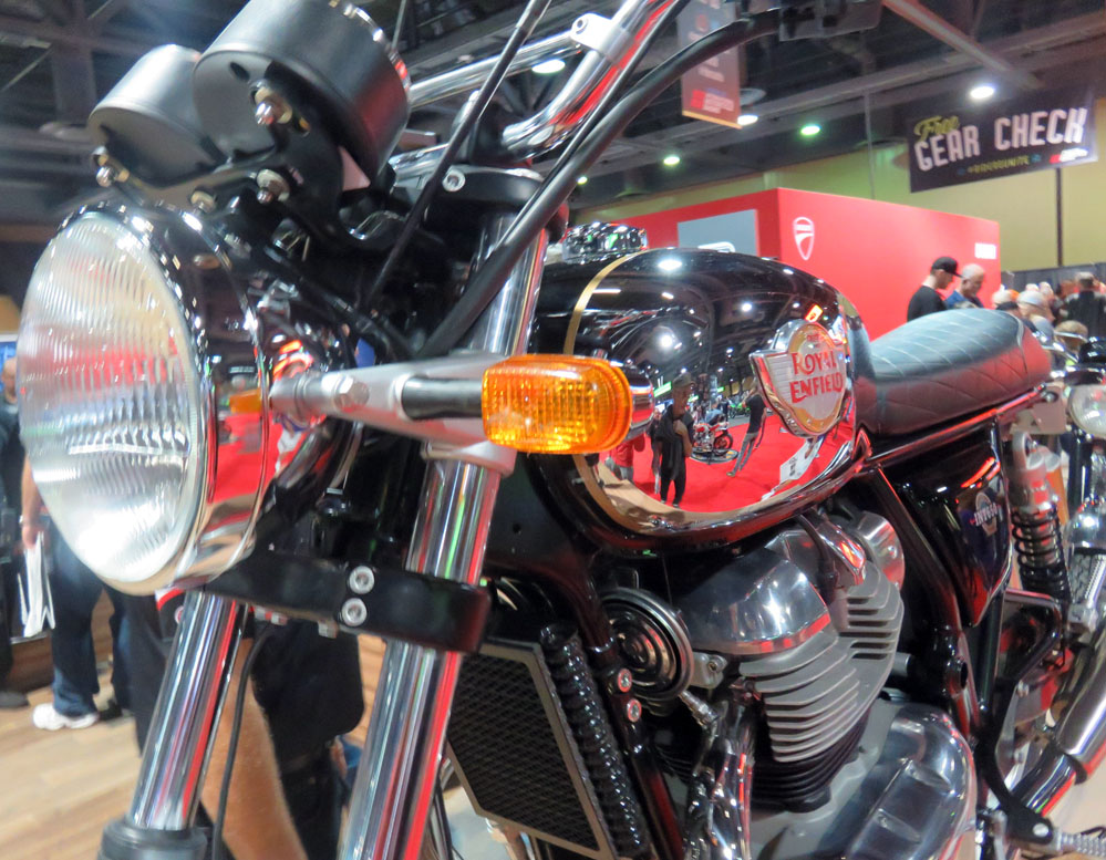 Motorcycle headlight and instruments.
