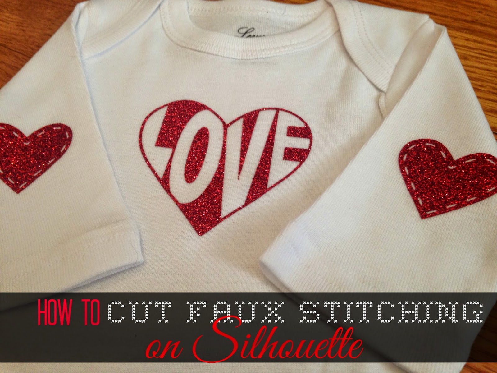Silhouette tutorial, faux stitching, Silhouette Studio