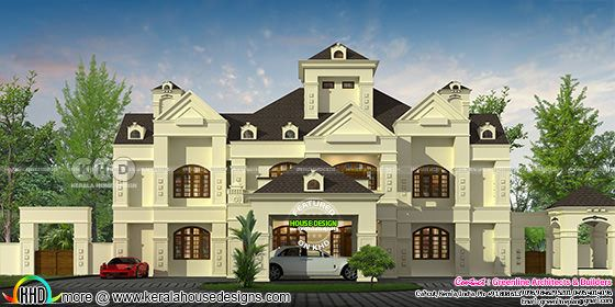 600 sq-yd 5 BHK Colonial model house plan
