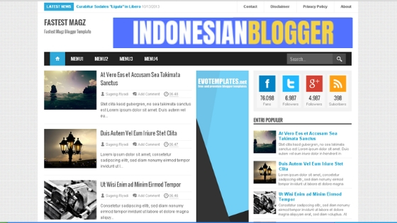 Download Template Blogger Fastest Magz Versi 4.9