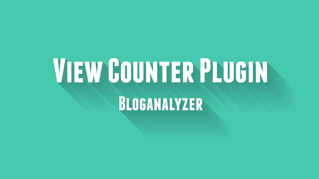 Post View Counter Plugin