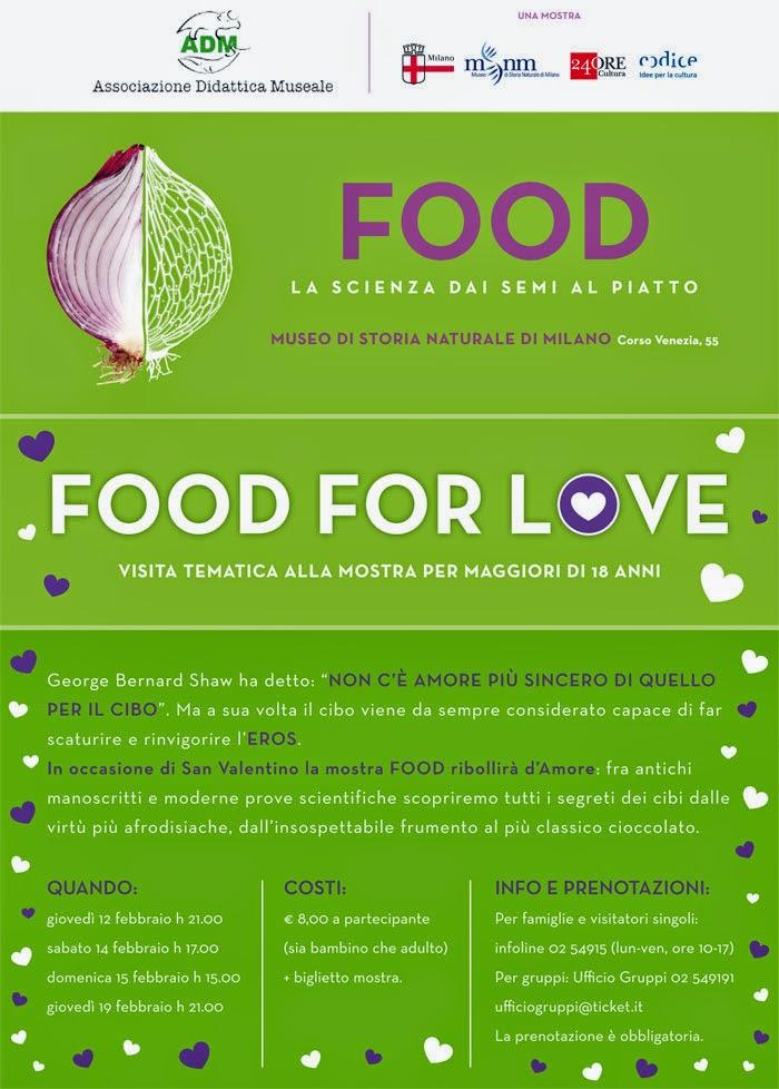 Food For Love 14 Febbraio Milano