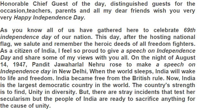 independence day speech in english for school students download