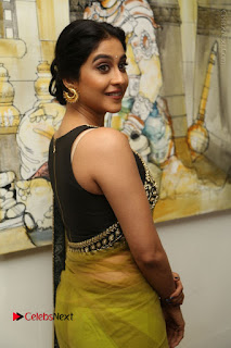 Actress Regina Stills in Green Saree at Vivaha Bhojanambu Restaurant Launch  0107.JPG