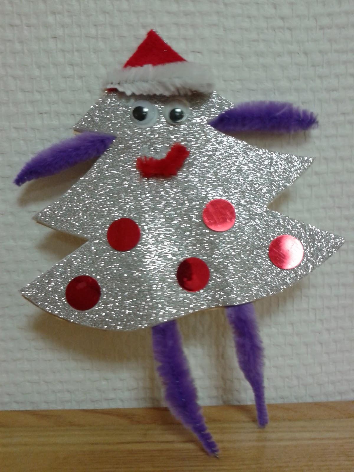 Activité Manuelle Noël dedans activités manuelles : les bonhommes sapins de noël