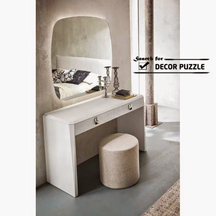 Latest modern dressing table designs with mirror for for Small mirrored dressing table set