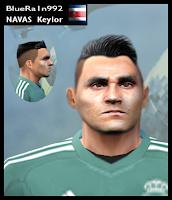 PES 6 Faces Keylor Navas by BR92