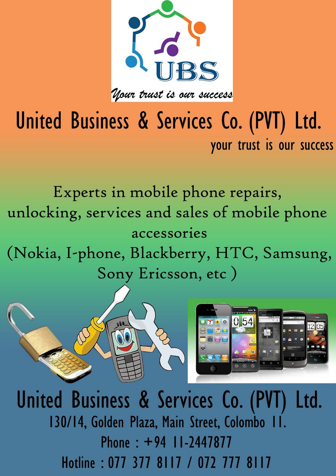 United Business and Services Co  (PVT) Ltd  ~ Mobile Phones in Sri