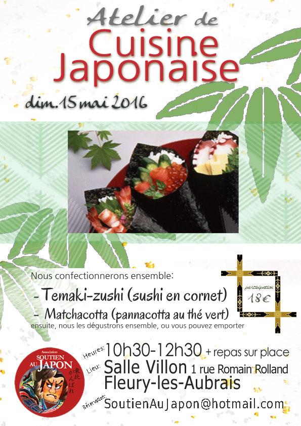 soutien au japon orl ans atelier de cuisine japonaise temaki zushi et matchacotta. Black Bedroom Furniture Sets. Home Design Ideas