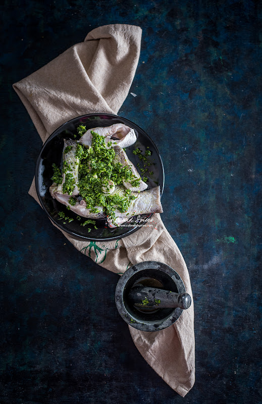 recipe for pan seared fish with coriander pesto