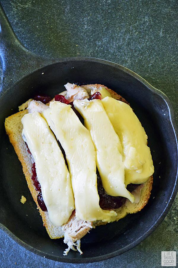 Turkey Grilled Cheese with Cranberry and Brie Cheese