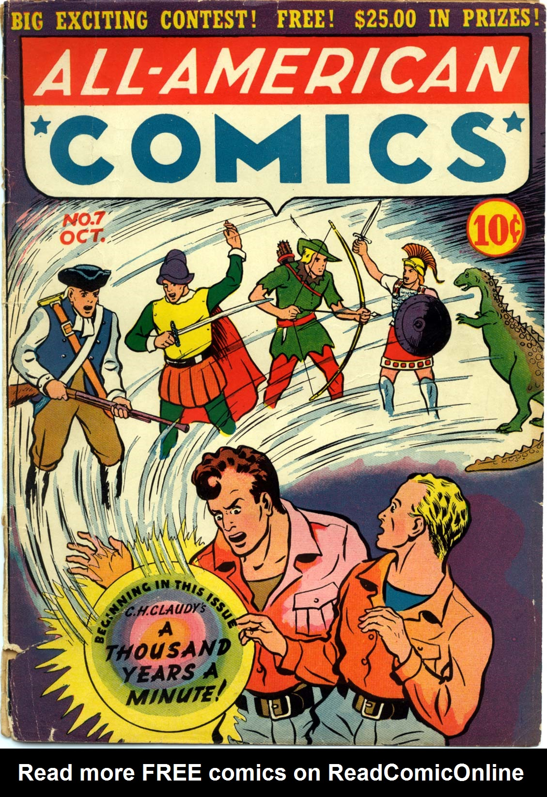 Read online All-American Comics (1939) comic -  Issue #7 - 1