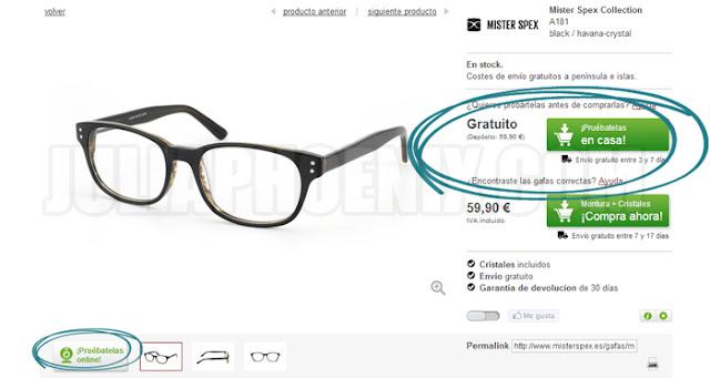 db0367f4b7 Sobre la web, creo que es del todo práctica y sencilla de usar, ¡No me  extraña que esté teniendo tanto éxito! En ella podemos encontrar gafas 100%  ...