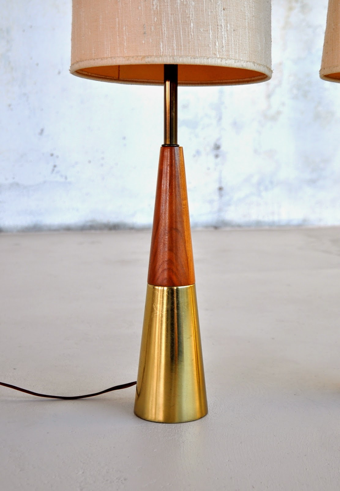 Select Modern Pair Of Tony Paul Cone Lamps