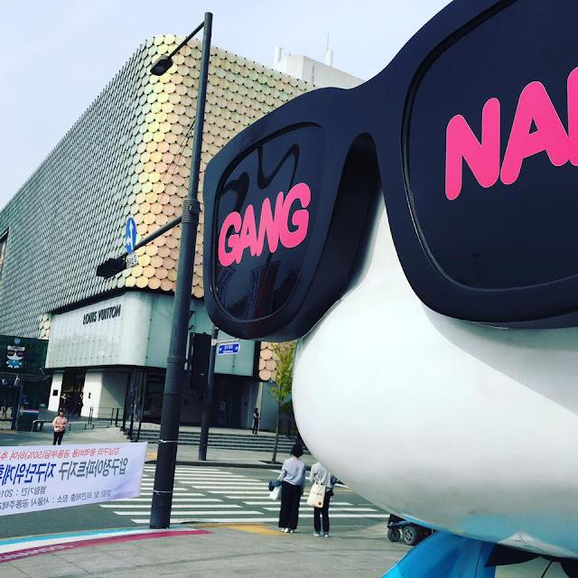 Let's go to Korea #2 : Gangnam 강남 K-Star Road : des oursons super cute aux couleurs des grands groupes de K-pop