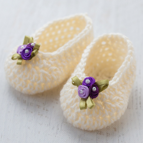 Simple & Sweet Baby Slippers - Free Pattern