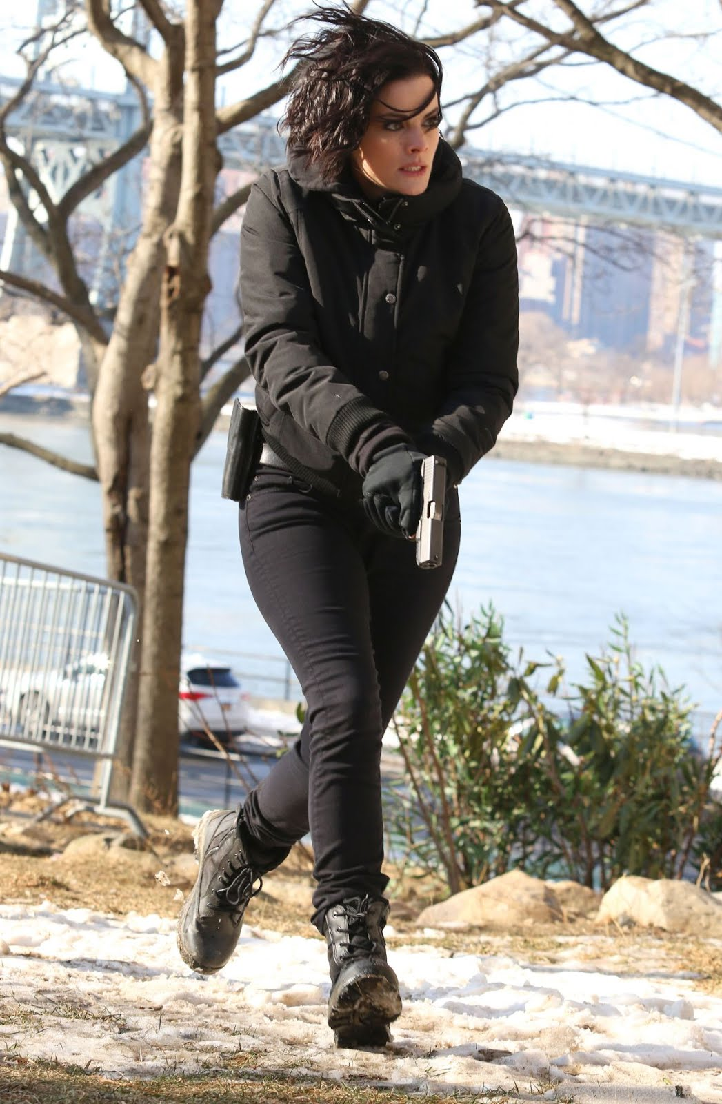 Jaimie Alexander On The Set Of Blindspot In Astoria Park In New York 2018
