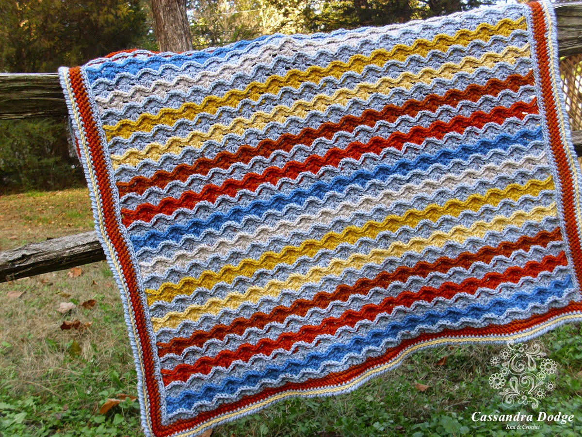 Confections Blanket Crochet Pattern by Susan Carlson of Felted Button (Photo by Cass Dodge of CassDodge.com)