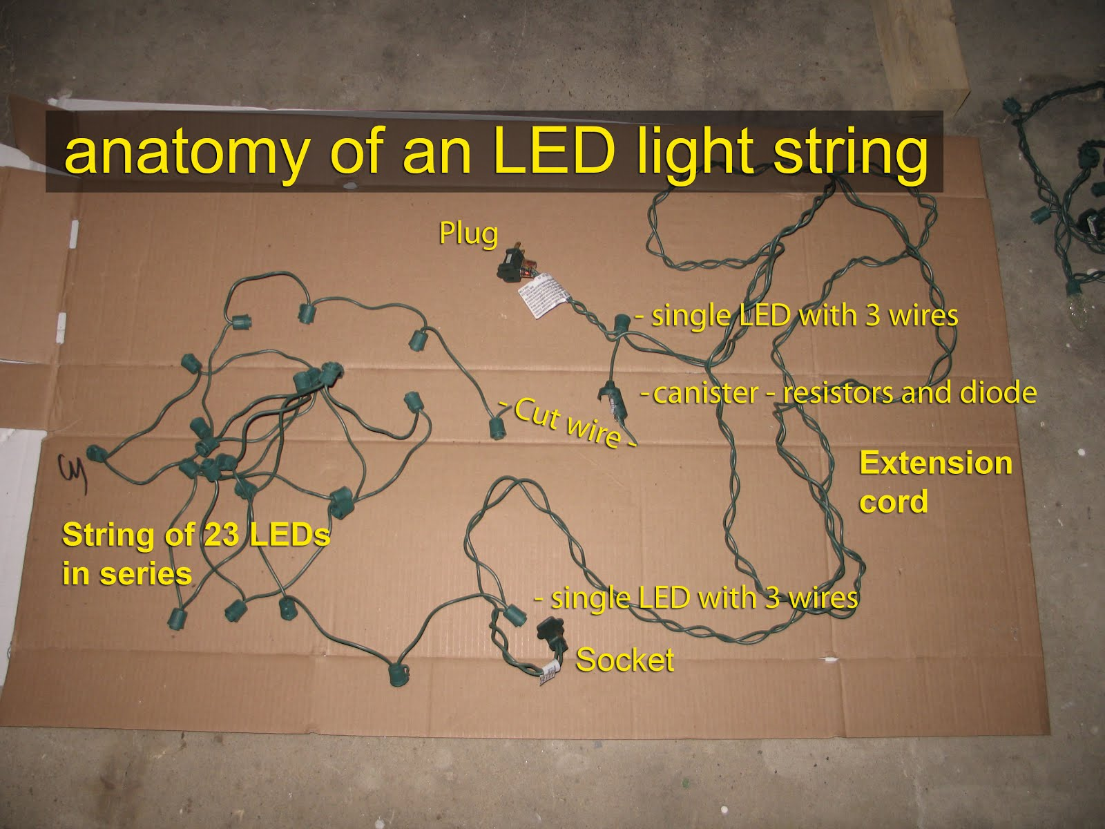 led light string anatomy1 georgesworkshop fixing led string lights LED Lights AC Wiring-Diagram at highcare.asia