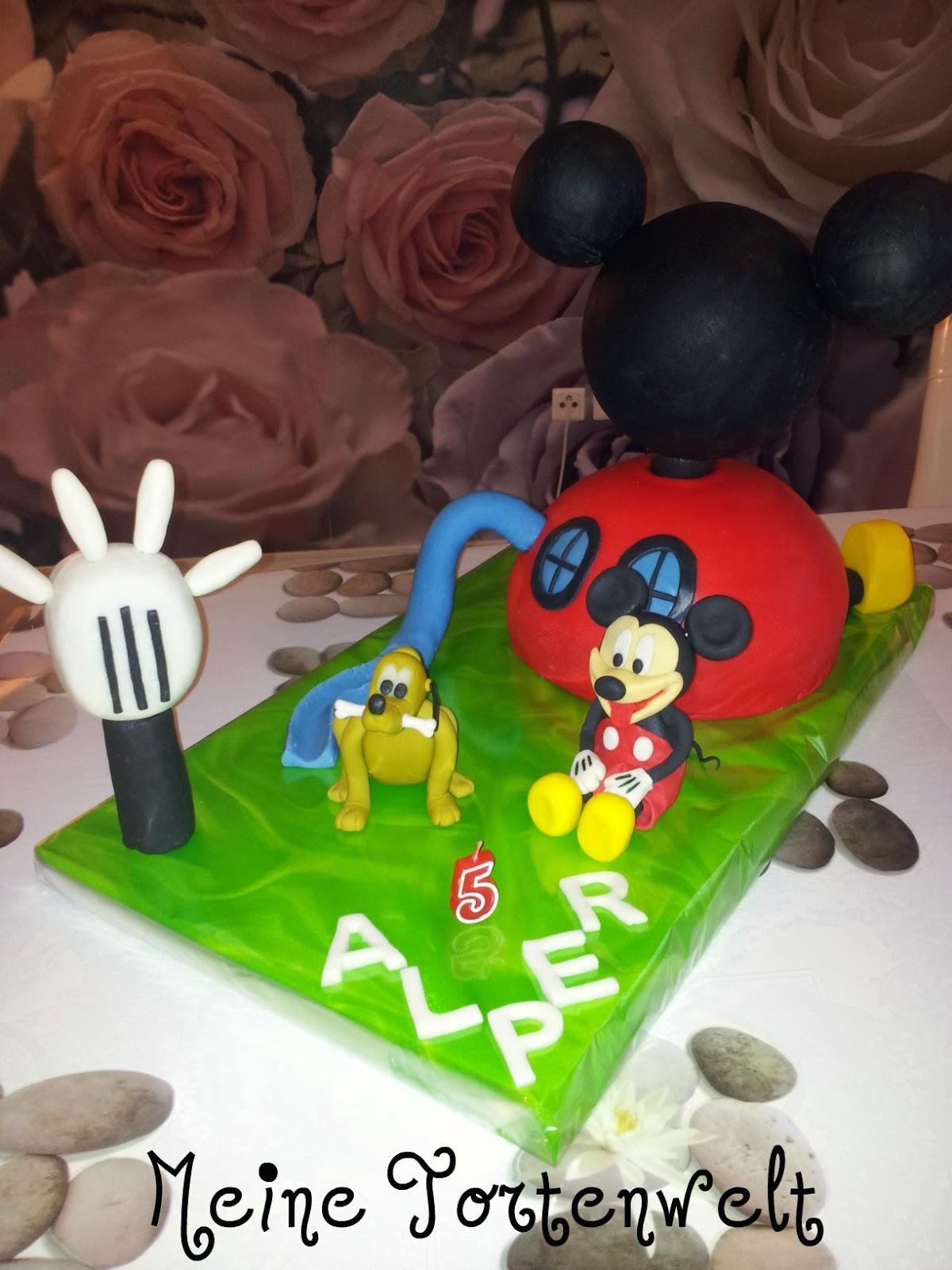 Meine Tortenwelt Micky Maus Wunderhaus Torte