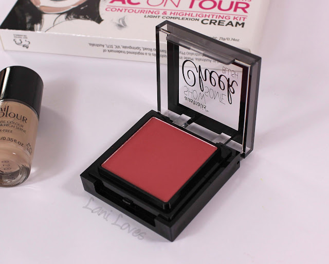 Australis Show Some Cheek Blush - Ablaze swatches & review