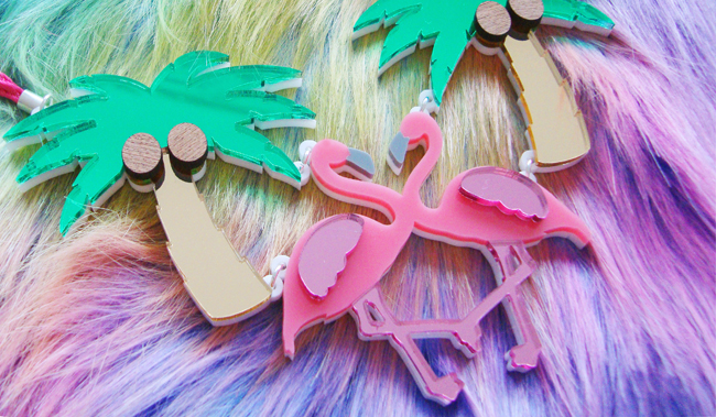 Sugar & Vice, statement necklace, flamingo necklace