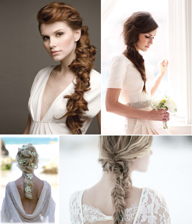 Braided Curly Wedding Hairstyles: Belle The Magazine . The