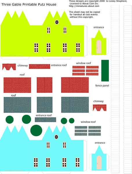 Officina Kriativa Da Cris Mini Casas Para Imprimir E Montar