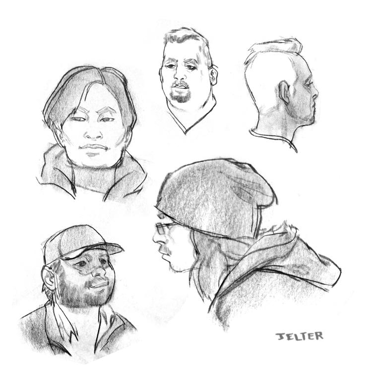 Ben Jelter Art: Figure drawings