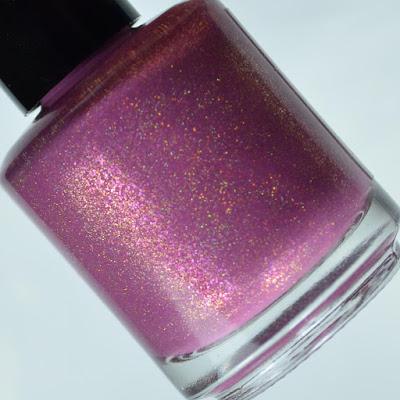 mauve holo nail polish