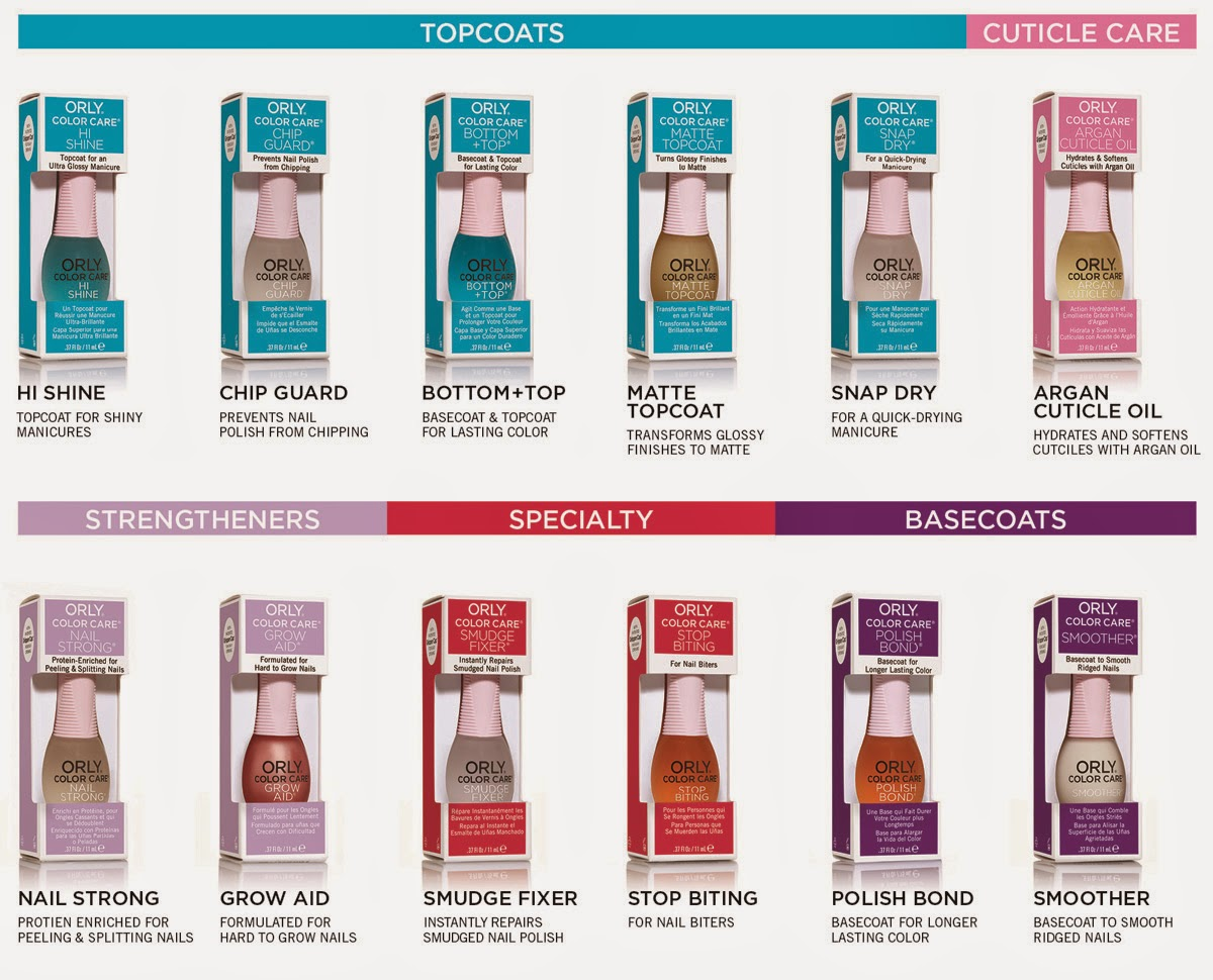Shades of beauty inc press release introducing orly color blast each color care formula provides targeted support for long lasting manicures offering everything youll need for healthy nails including basecoats geenschuldenfo Image collections