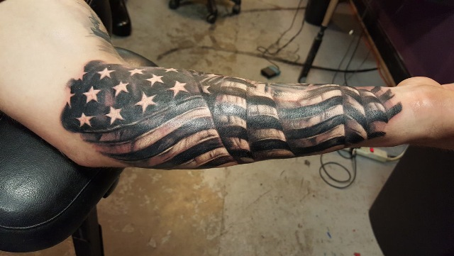 Patriotic Tattoo Designs Black And White Tattos For Men