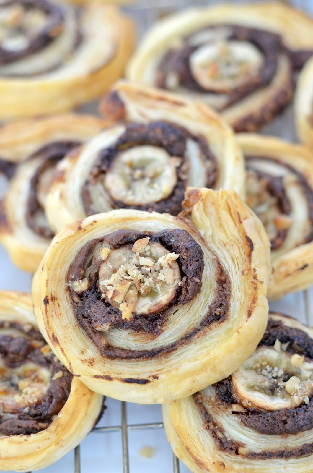 Chocolate & Banana Pinwheels