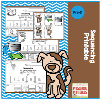 graphic about Sequencing Pictures Printable named Sequencing Printable ~ Preschool Printables