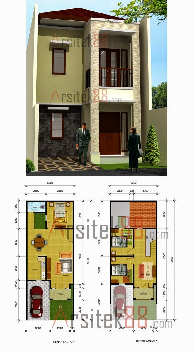 Desain Rumah Minimalis 2 Lantai 3 Dimensi Foto Desain Rumah