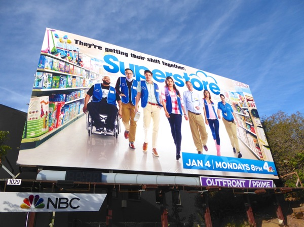Superstore series premiere billboard