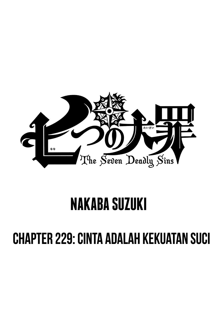 Nanatsu no Taizai – Chapter 229 : Cinta Adalah Kekuatan Suci