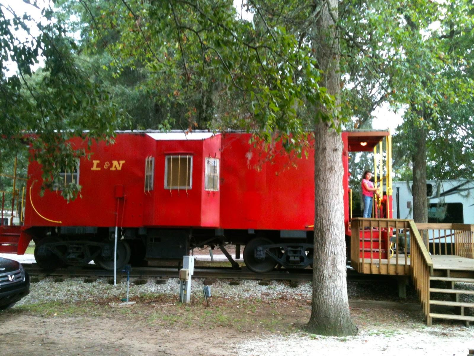 Caboose Camping at the Mt. Pleasant (Charleston) SC - KOA