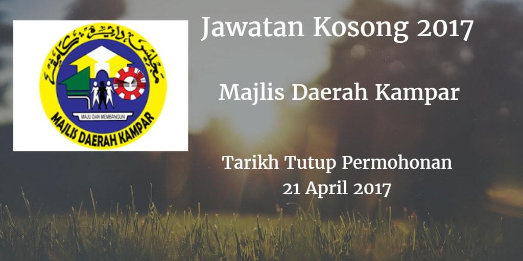 Jawatan Kosong MDKampar 21 April 2017