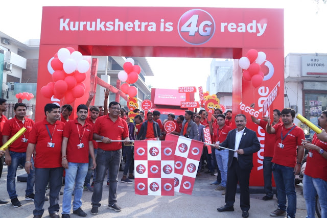 VODAFONE SuperNetTM 4G ON SUPERIOR 1800 MHZ LAUNCHED IN KURUKSHETRA