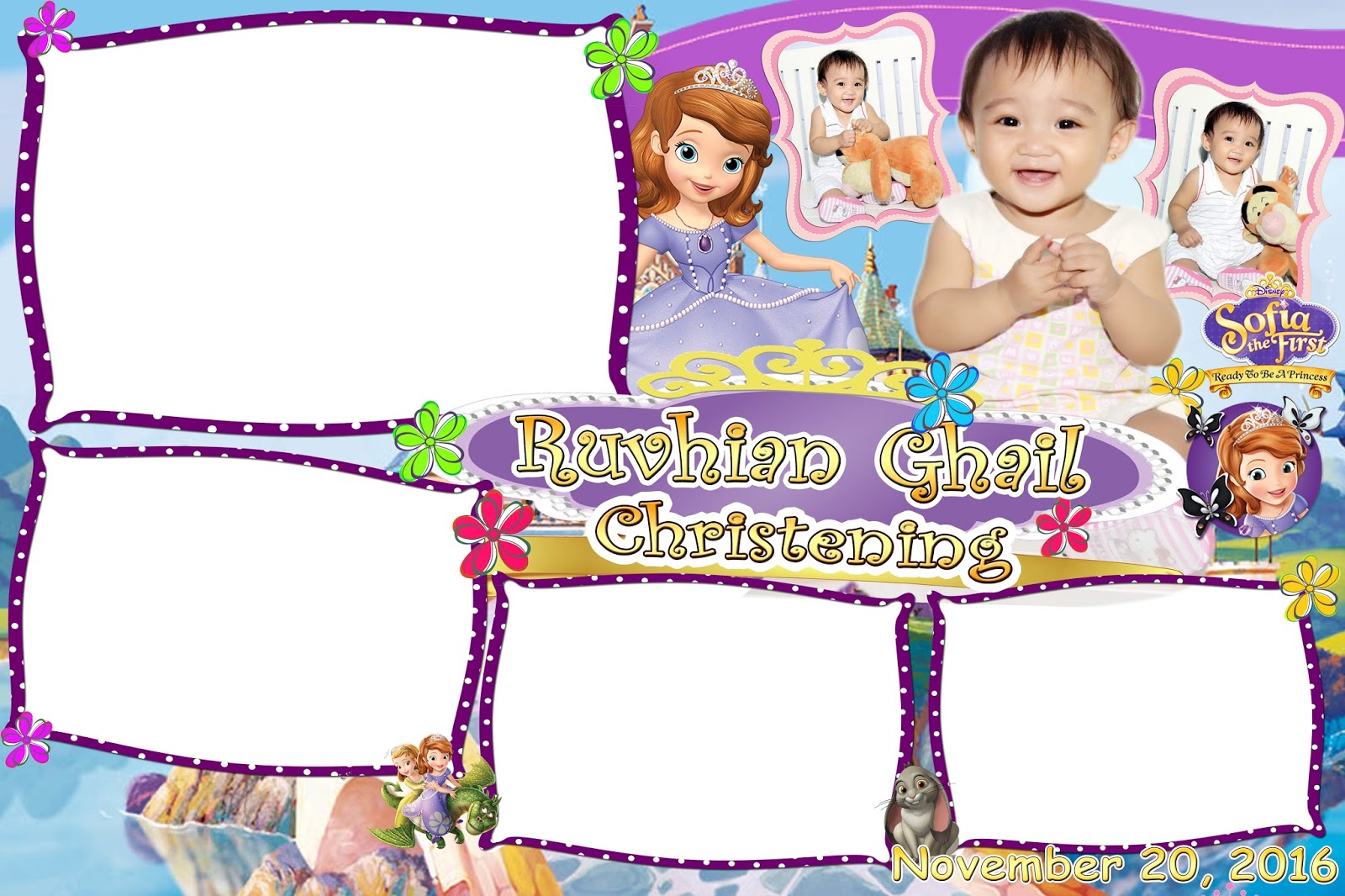 Sofia The First Photo Booth Design Get Layout
