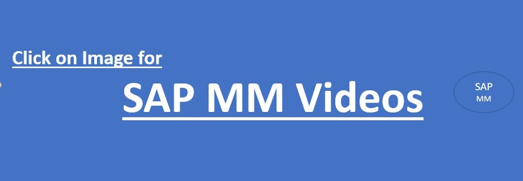 SAP MM Configuration Videos