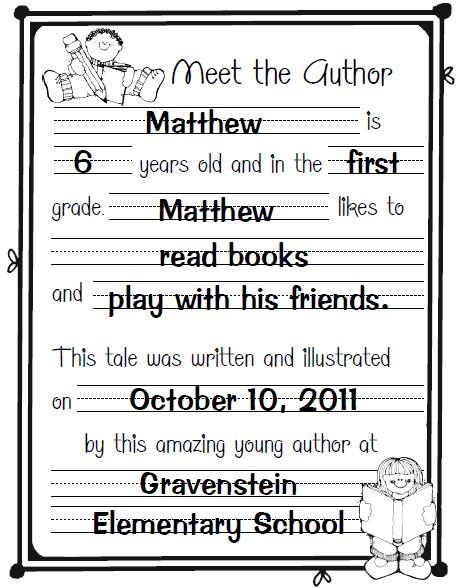 Sailing Through 1st Grade Meet The Author