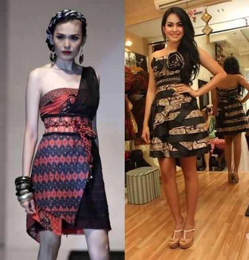 dress batik pesta