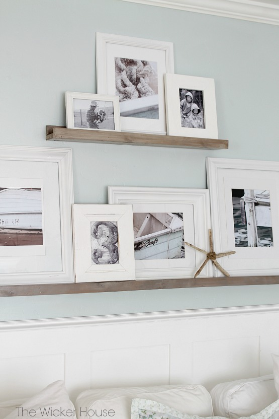 Gallery Wall Picture Ledges - The Wicker House